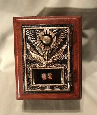Antique Vintage Post Office Door Mail Box Postal Bank-1920 Flying Eagle - #85
