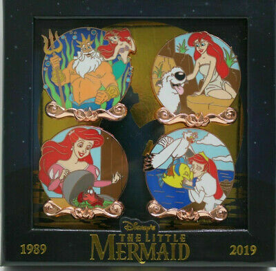 Disney Little Mermaid 30th Anniversary Ariel 4 pin set LE 2000