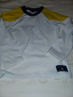 Janie and jack boys size 5 white and yellow long sleeve rash guard