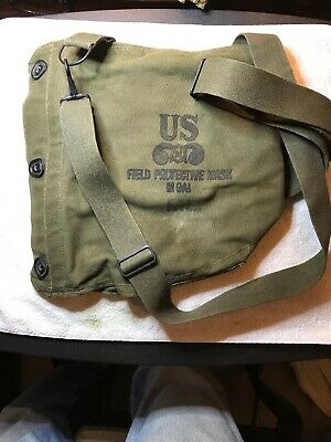 M9A1 Field Protective Mask, US Army Surplus Gas Mask Bag