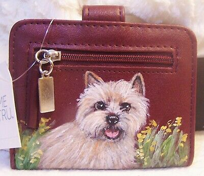 Norwich Terrier hand painted  wallet