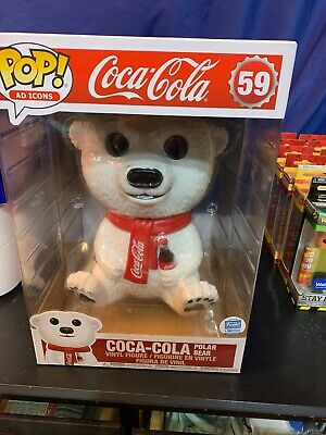 "Funko Pop! Ad Icons #59 Coca-Cola Polar Bear 10"" Inch Funko Shop Exclusive"