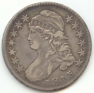 1813 Capped Bust Half Dollar, VF-XF Details