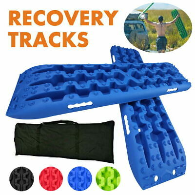 Red 1 Pair Track With Bag Sand/Snow/Mud Trax 4WD Recovery Tracks 10T Sand