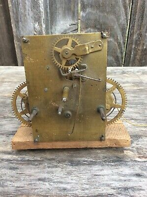 Early American Weight Driven Shelf Clock Movement, Parts / Repairs  1