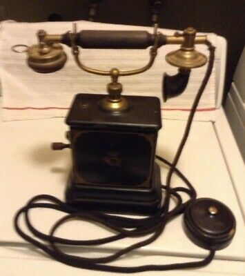 Turn Of The Century French Phone Wind Up