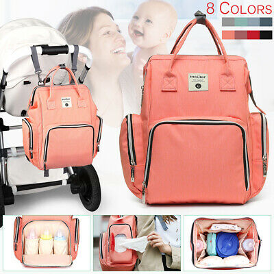Waterproof Mummy Maternity Nappy Baby Diaper Bag Large Travel Backpack