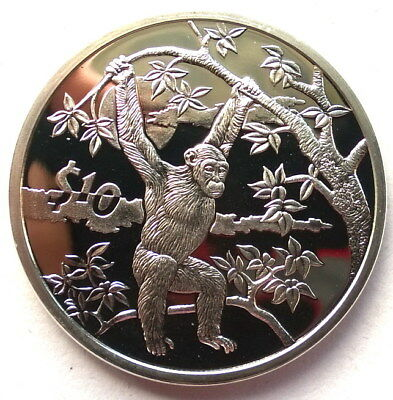 Sierra Leone 2006 Chimp 10 Dollars Silver Coin,Proof
