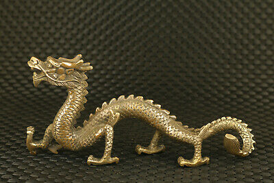 valuable chinese old bronze hand casting dragon statue figure collectable