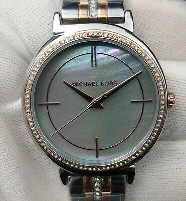 New Old Stock-MICHAEL KORS CINTHIA MK3642 - Gray Mother of Pearl Dial Lady Watch