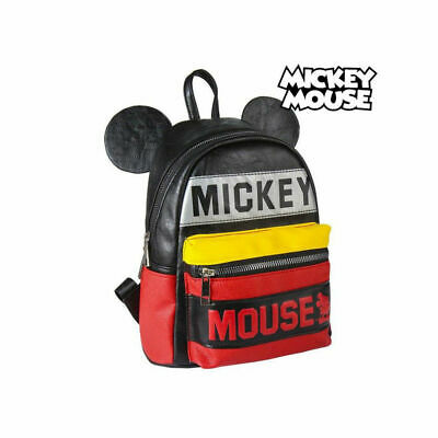 Sac à dos Casual Mickey Mouse 72818 Noir Rouge Jaune