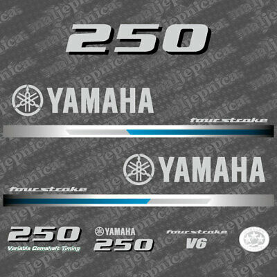 Yamaha 250HP V6 Four Stroke Outboard Engine Decals Sticker Set reproduction 2013