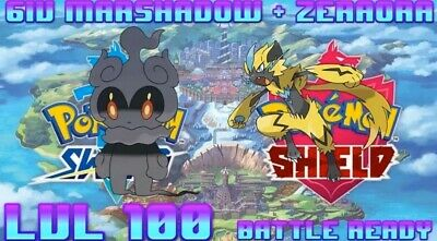 6IV Marshadow + Zeraora  Pokemon Sword and Shield Fast Delivery