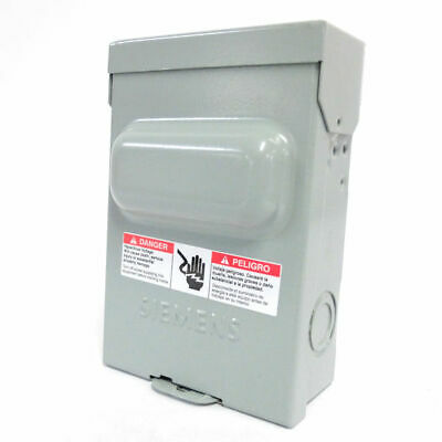 Siemens WN2060 A/C Disconnect Switch, Non-Fused Pull-Out, 60A, 1PH, 2P, 10HP