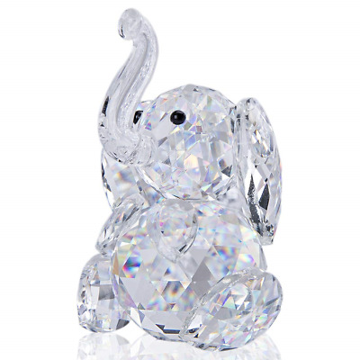 H&D Cut crystal elephant animal figurine collection glass ornament best new