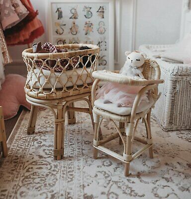 Doll's Rattan High Chair With Cushion ONLY/Pretend Play/Doll's Furniture/NEW