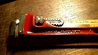 """Ridgid 6"""" Pipe Wrench, Red USA used buffed up FREE PRIORITY"""