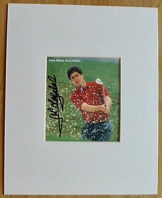 JOSE MARIA OLAZABAL-A Superb Hand Signed Photo,Mounted & Matted-RARE & COA Too