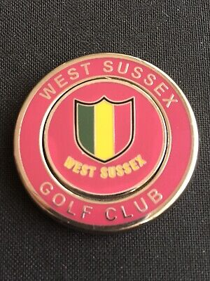 WEST SUSSEX Golf Ball Marker With Removable
