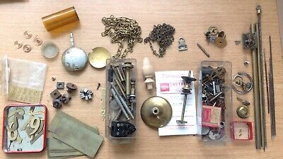 Clock Makers Parts Brass Chain Rod Plates Hair Springs Spare Parts Collection R9