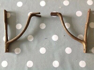 Antique Clock Brass Brackets 100x85mm  From Clockmakers Parts Collection
