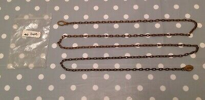 "Antique Clock Chain 74"" Marked DUFA From Clockmakers Parts Collection38 Links '"