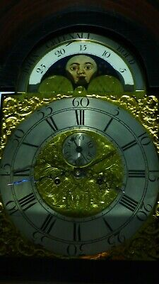 LONGCASE CLOCK 8 day  WITH MOON WORK AND DATE SWEEP HAND