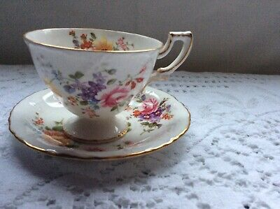Vintage ,Royal Crown Derby Bone China ,Tea Cup And Saucer 1950's/ 60's.
