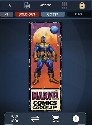 Topps Marvel Collect Digital Card - Corner Box - Thanos