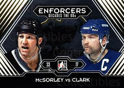 2013-14 ITG Decades 1990s Gold #190 Marty McSorley, Wendel Clark