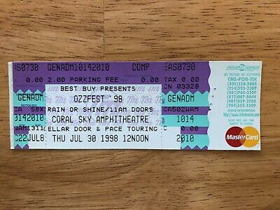 Ozzfest '98 UNUSED Ticket Stub West Palm Beach Florida