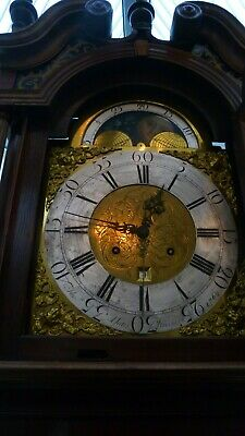 LONGCASE CLOCK 8 day  WITH MOON WORK AND DATE SWEEP HAND DATED