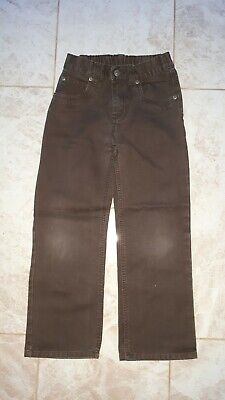 Next Boys Age 8 Chocolate Brown Straight Leg Jeans Spring Fashion Denim 128cm