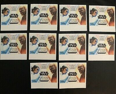 ❤Lot de 10 Pochettes STAR WARS - L'ascension de Skywalker Leclerc 40 Stickers