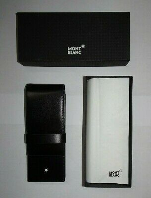 Montblanc Siena Black Leather 3 Slot Pen Pouch Case # 30303 - New In Box!