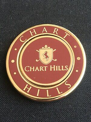 CHART HILLS. Golf Ball Marker With Removable