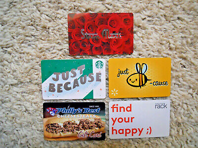Collectible Gift Cards, five new, unused cards, no value on cards         (P-15)