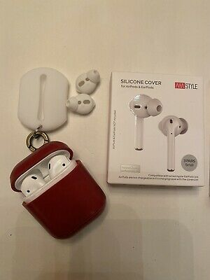 Apple AirPods 2nd generation with charging case, Carry Case, Earbud Covers