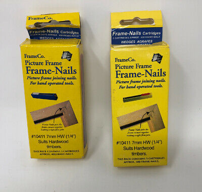 TWO PACKS OF Frameco V Nails / Wedges - 7mm / 1/4 inch Hardwood - 10411