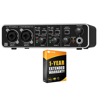 Behringer Audiophile 2x2 24-Bit/192 kHz USB Audio Interface U-PHORIA + Warranty