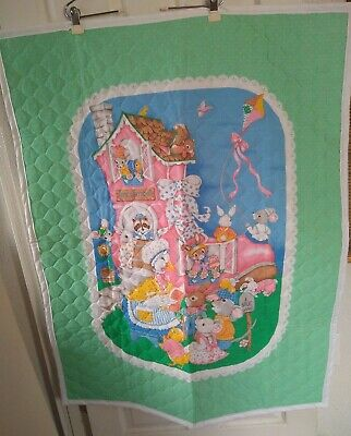 Old Woman Who Lived In A Shoe Baby Quilt Blanket Handmade? Crib Nursery Rhyme