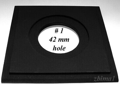"1 LENS BOARD 4"" x 4"" - ""C"" - for GRAFLEX ANNIVERSARY SPEED GRAPHIC for Copal #1"