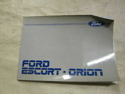 Ford Escort Orion Owners Handbook Mk 4 XR3i RS Turbo 1986 Model Genuine