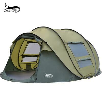 Desert&Fox Automatic Pop-up Tent, 3-4 Person 4 Season Waterproof