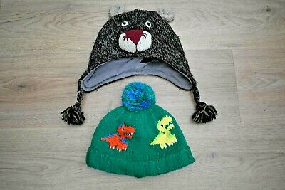 Baby Boys Next Age 1-2 Years Winter Hats Dinosaur & Bear