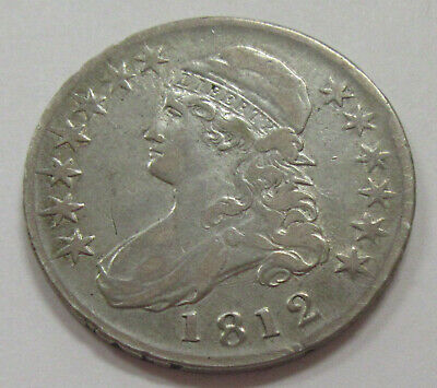 1812 Capped Bust Silver Half Dollar * Full Liberty * Old US 50 Cents