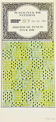 Silver Reed PUNCHCARDS - CARD SERIES 57 Tuck-Rib NEW 10 Cards NO. 281-290