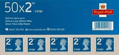 2008- 12/06/08 - 2369425 Machin 50 x 2nd Class Large Stamps S/A Business Sheet