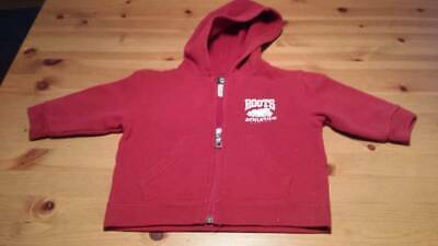 ROOTS Canada KIDS Zip Up Sweater Hoodie Red / Size 6-12 months Unisex Boys Girls