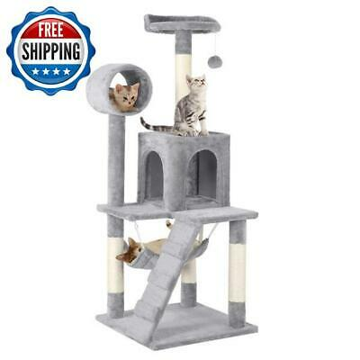 """51"""" Cat Tree Activity Scratching Post Tower Kitty Play House Condo Furniture"""